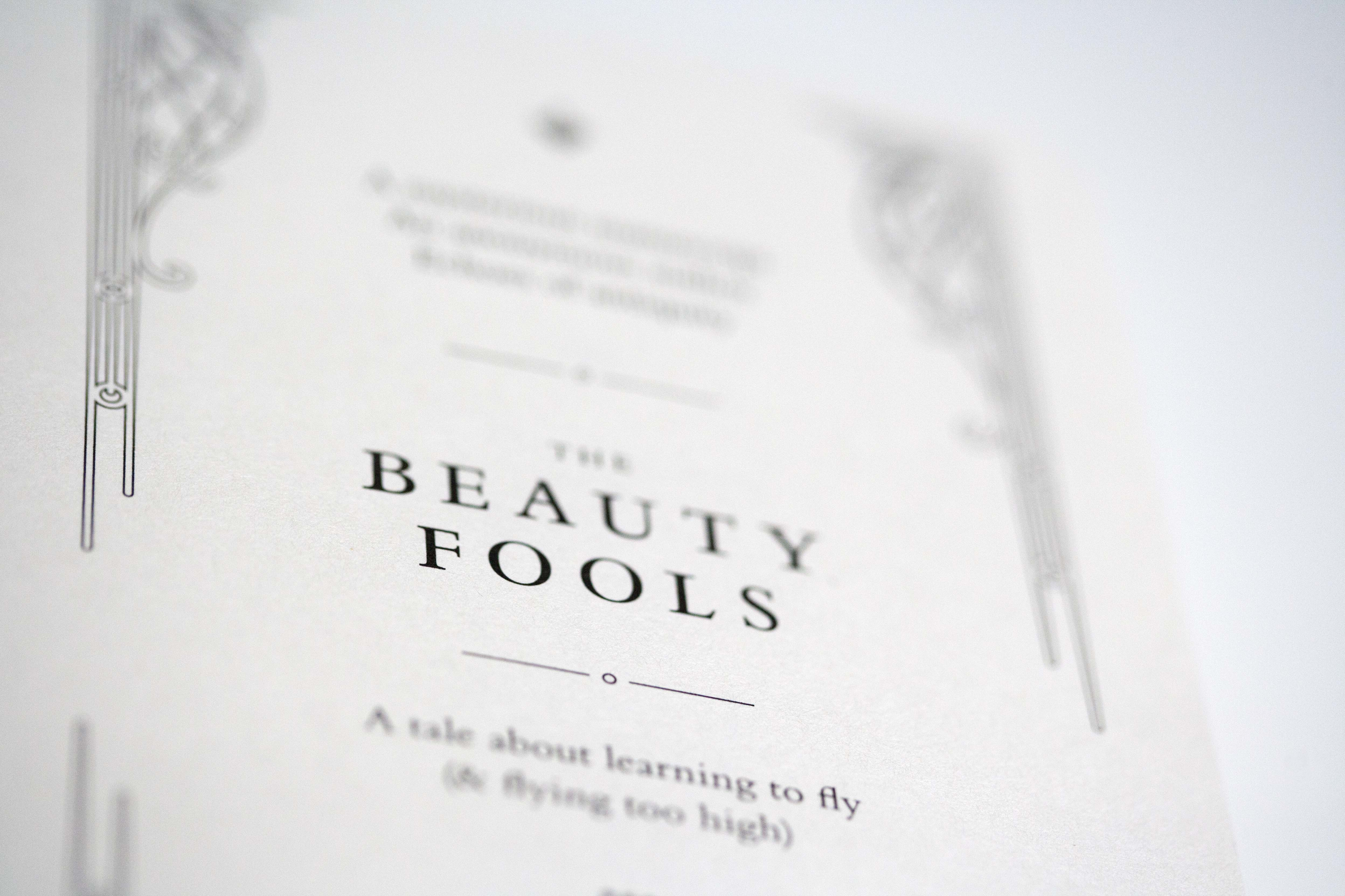 The Beauty Fools inside cover